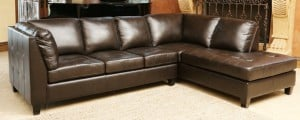 Abbyson Living Charlie Leather Sectional