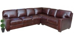 Abbyson Living Leather Sectional