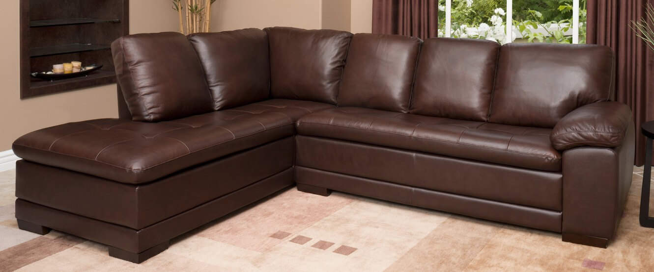 Superieur Abbyson Living Porter Leather Sectional Sofa