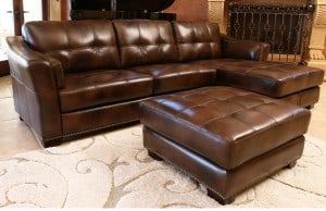 Hayneedle Abbyson Living Leather Sectional