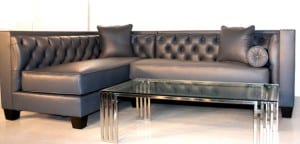 ... Modern Style Tobias Leather Sectional Sofa