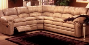 Omnia Furntiure Riviera Leather Reclining Sectional Sofa