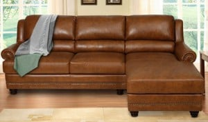 Victoria Leather Sectional
