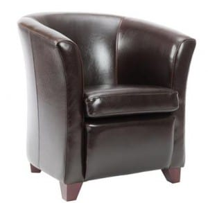 Deqor Safavieh Brown Leather Living Room Chair Reviews