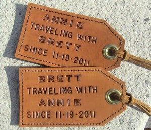 Personalized Leather Luggage Tags- Fun Christmas Presents