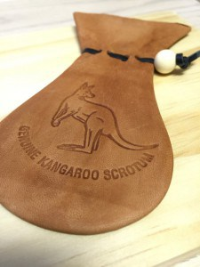 Kangaroo Leather Coin Purse With Writing