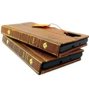 Two Leather Cell Phone Cases That Look Like Books