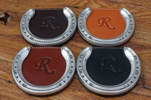 Best Christmas Gifts for 2015- Monogrammed Leather Coasters