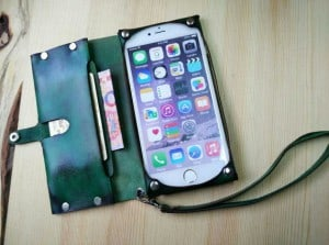 Handmade Leather iPhone 6 Wallet Case- Gift Ideas