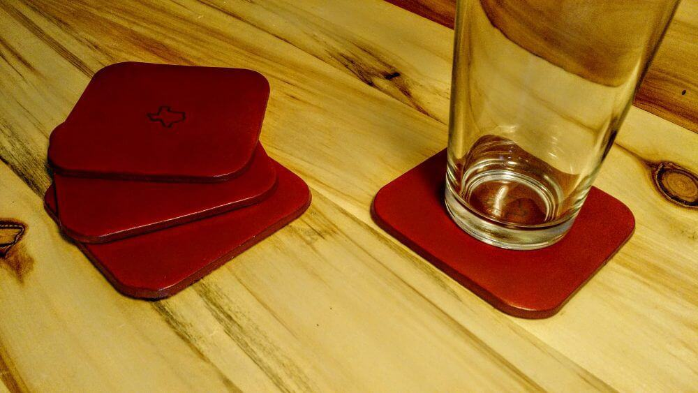 TLT Inc Non Rimmed Custom Leather Coasters Review