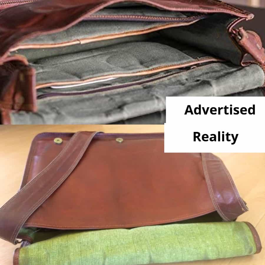 Advertisement vs Reality Laptop Bag