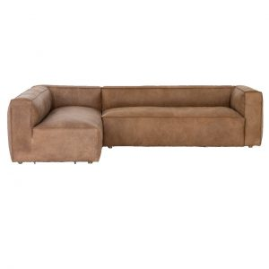 Nolita Tan Leather 2 Piece Sectional Sofa