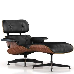Eames Leather Recliner And Ottoman