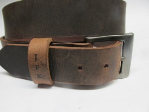 Gray Eagle Leather Belt