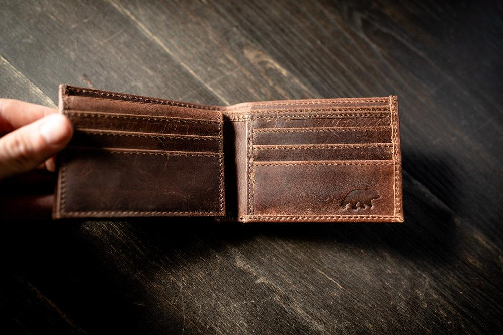 Kenai Bifold Leather Wallet - Father's Day Gift